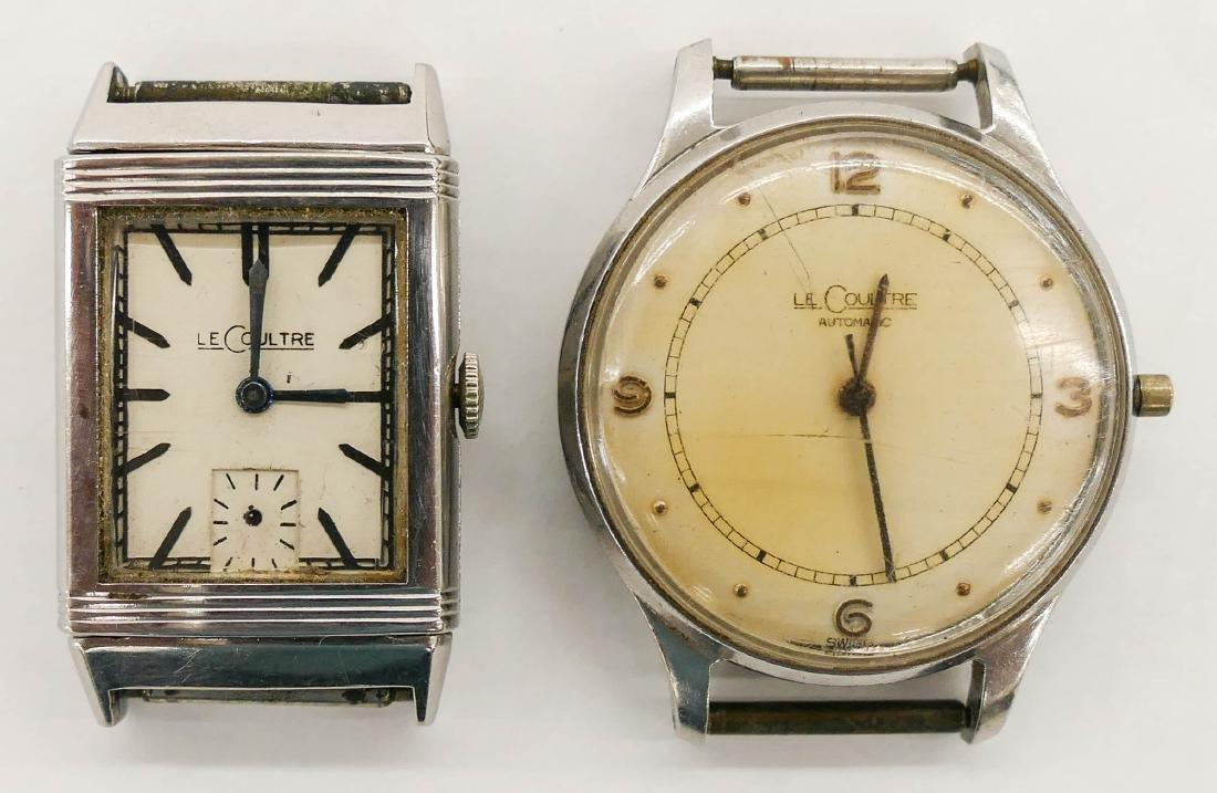 2pc Vintage LeCoultre Parts Wrist Watches. Includes a