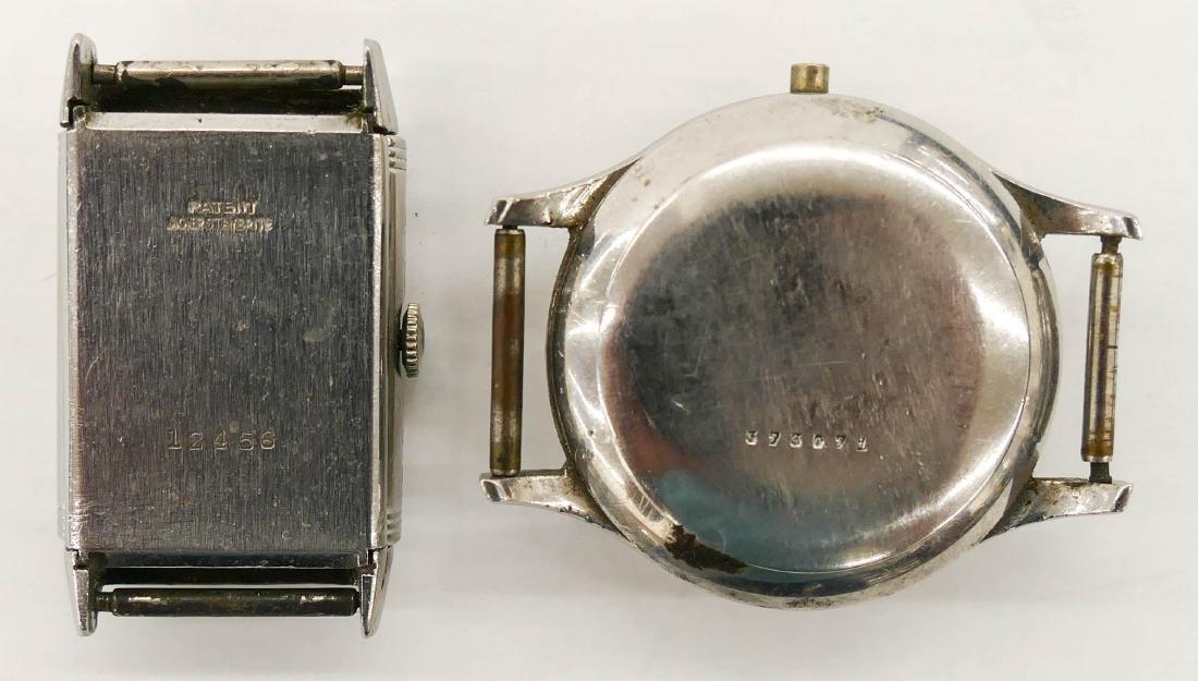 2pc Vintage LeCoultre Parts Wrist Watches. Includes a - 2