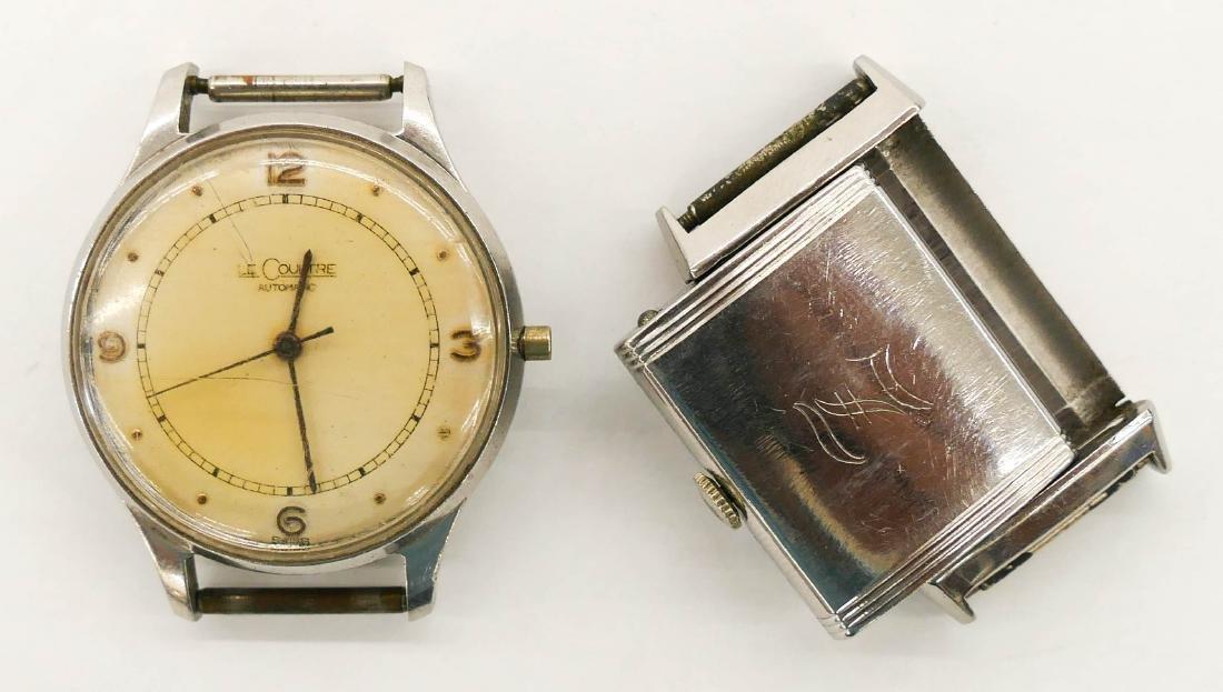 2pc Vintage LeCoultre Parts Wrist Watches. Includes a - 3