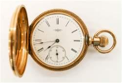 14k Elgin Model 1 Gold Pocket Watch Size 8s Manual 11