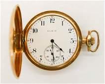 14k Elgin Model 2 Gold Pocket Watch Size 12s Manual 17