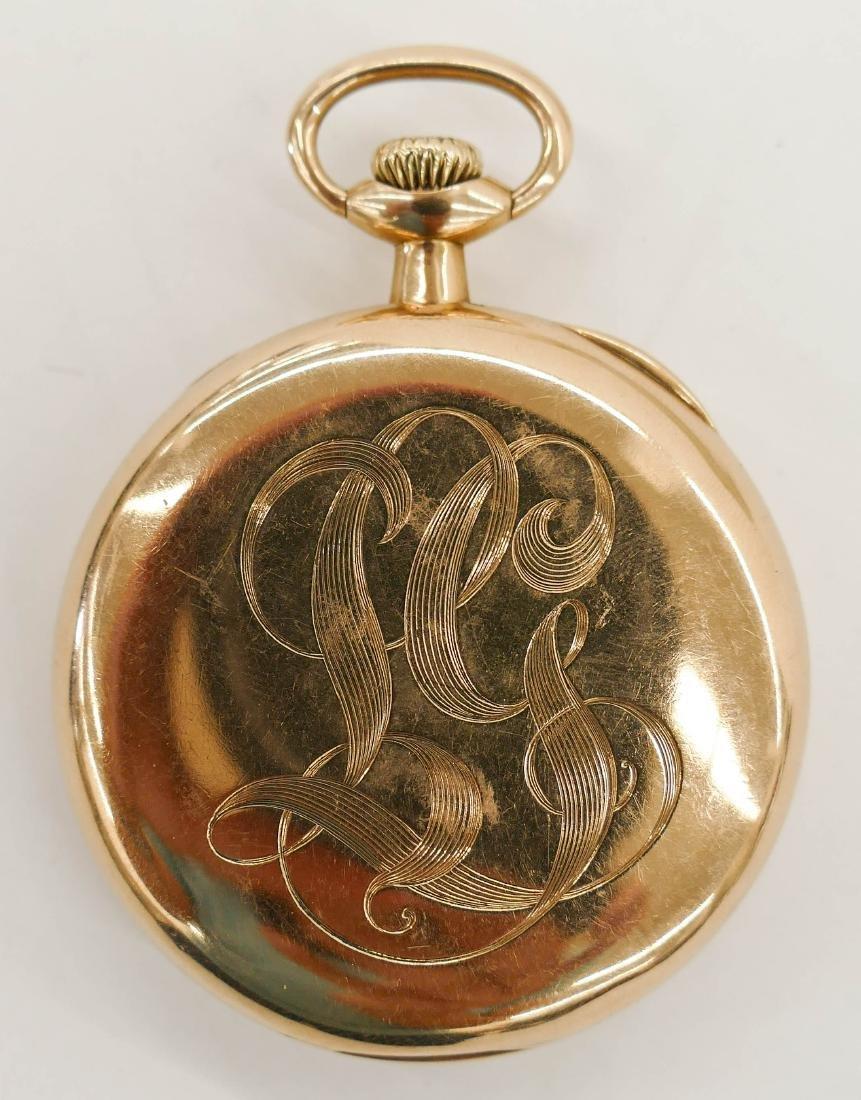 14k Shreve & Co. Gold Pocket Watch Size 5s. Manual 17 - 2