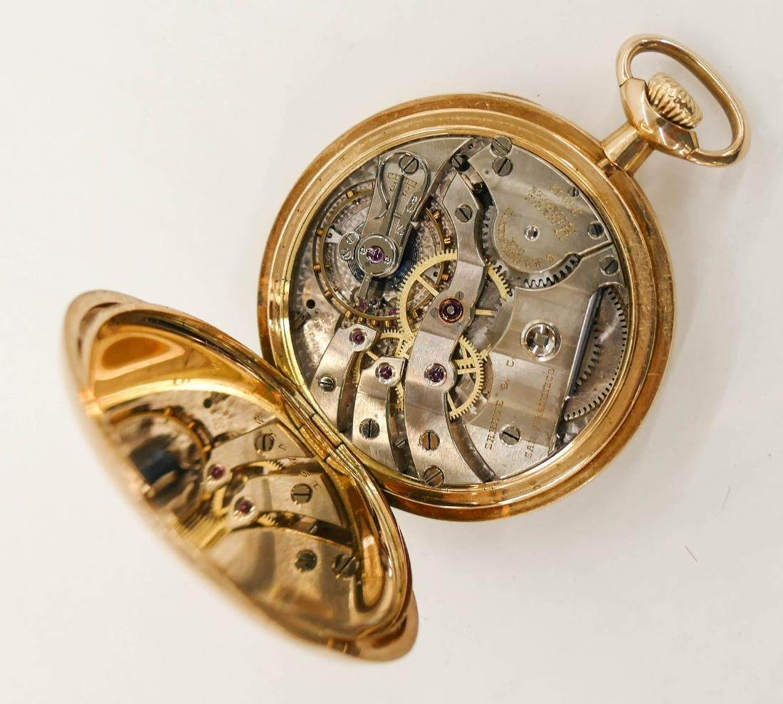 14k Shreve & Co. Gold Pocket Watch Size 5s. Manual 17 - 3