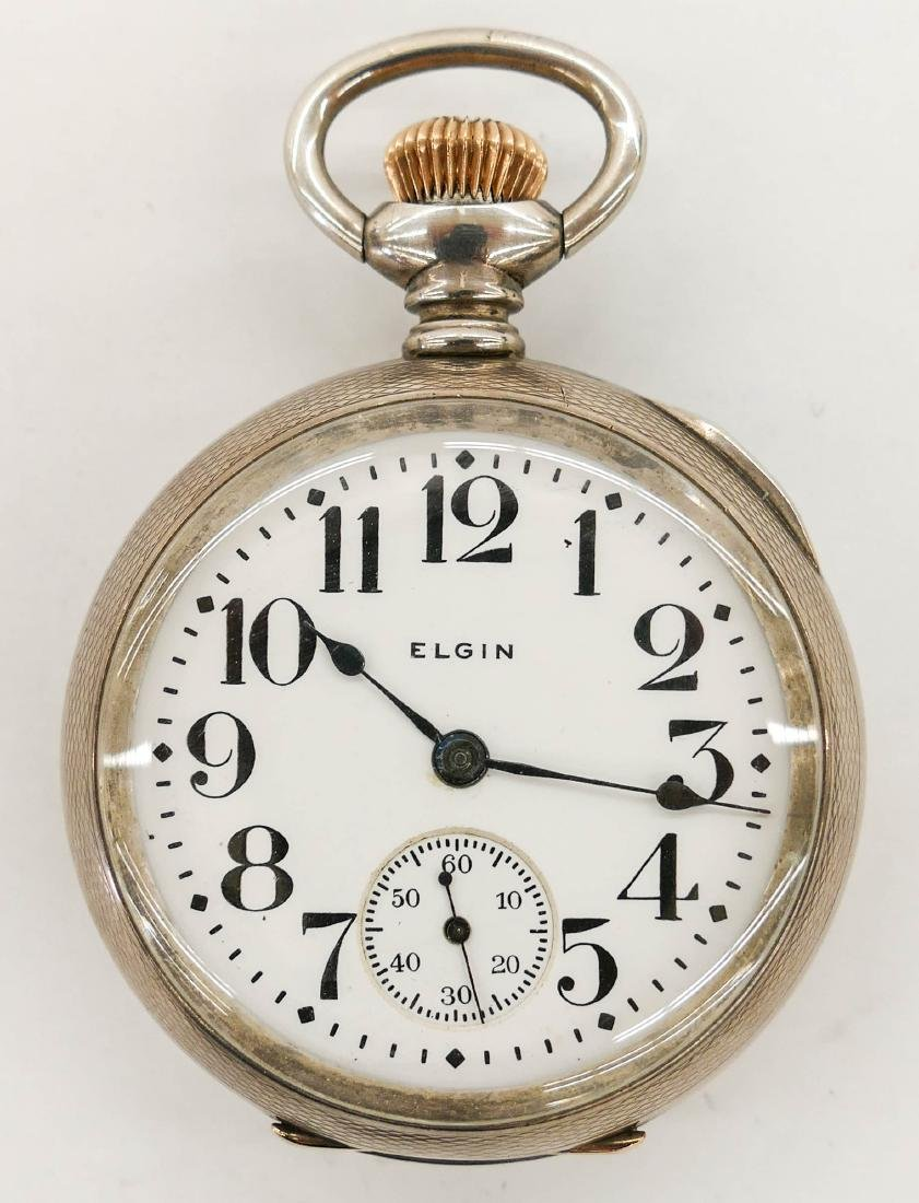Elgin Veritas 214 Sterling Pocket Watch Size 18s.