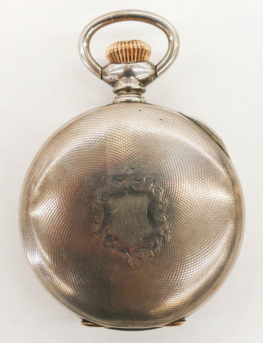 Elgin Veritas 214 Sterling Pocket Watch Size 18s. - 2