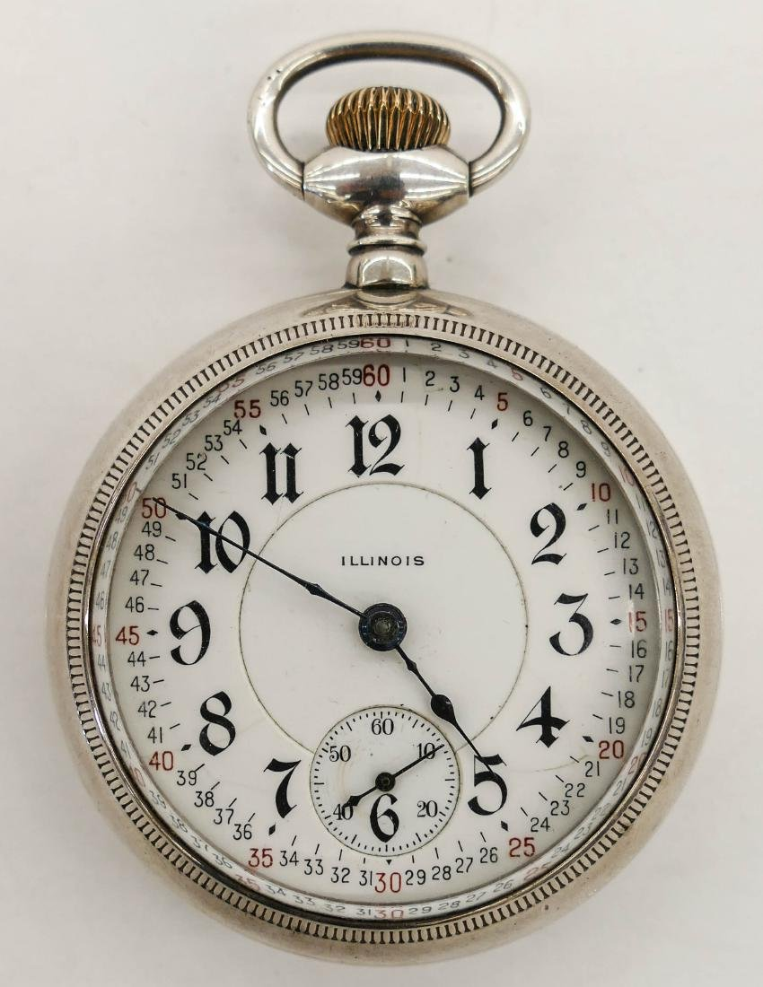 Illinois Bunn Special Sterling Pocket Watch Size 18s.