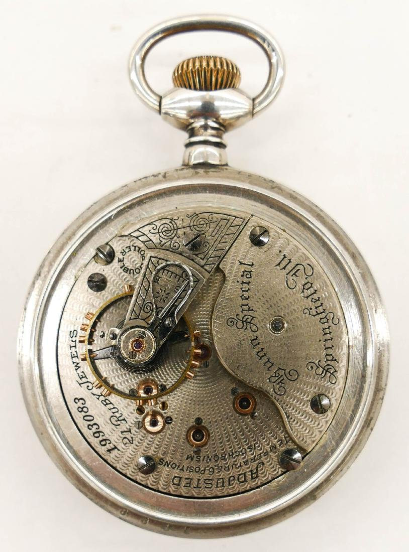 Illinois Bunn Special Sterling Pocket Watch Size 18s. - 2