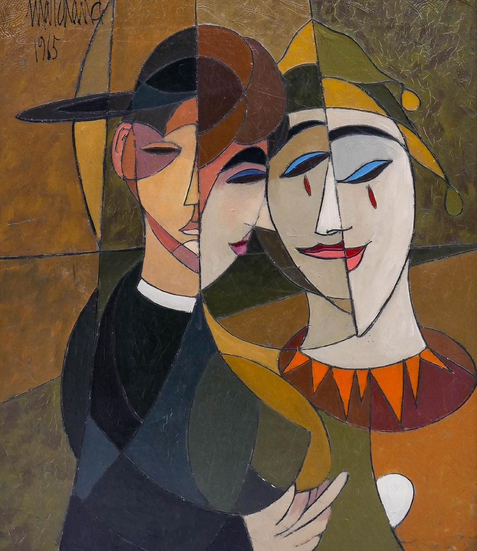 Phillipe Marchand (20th Cent. French) Untitled Cubist