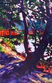Mary McInnis (b.1957 Washington) Untitled Landscape