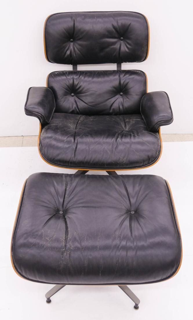 Eames for Herman Miller Rosewood Lounge Chair & - 2