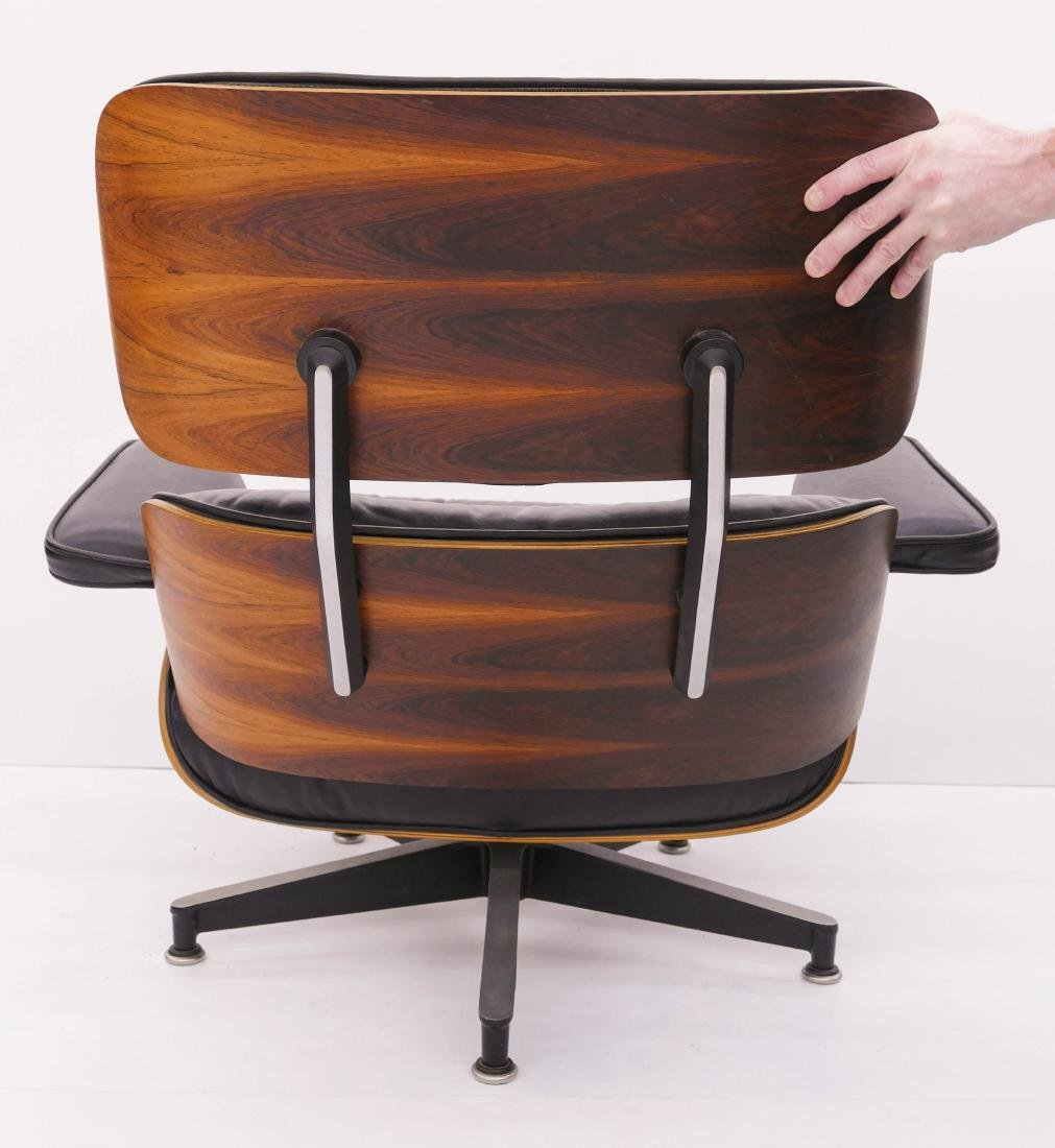 Eames for Herman Miller Rosewood Lounge Chair & - 4