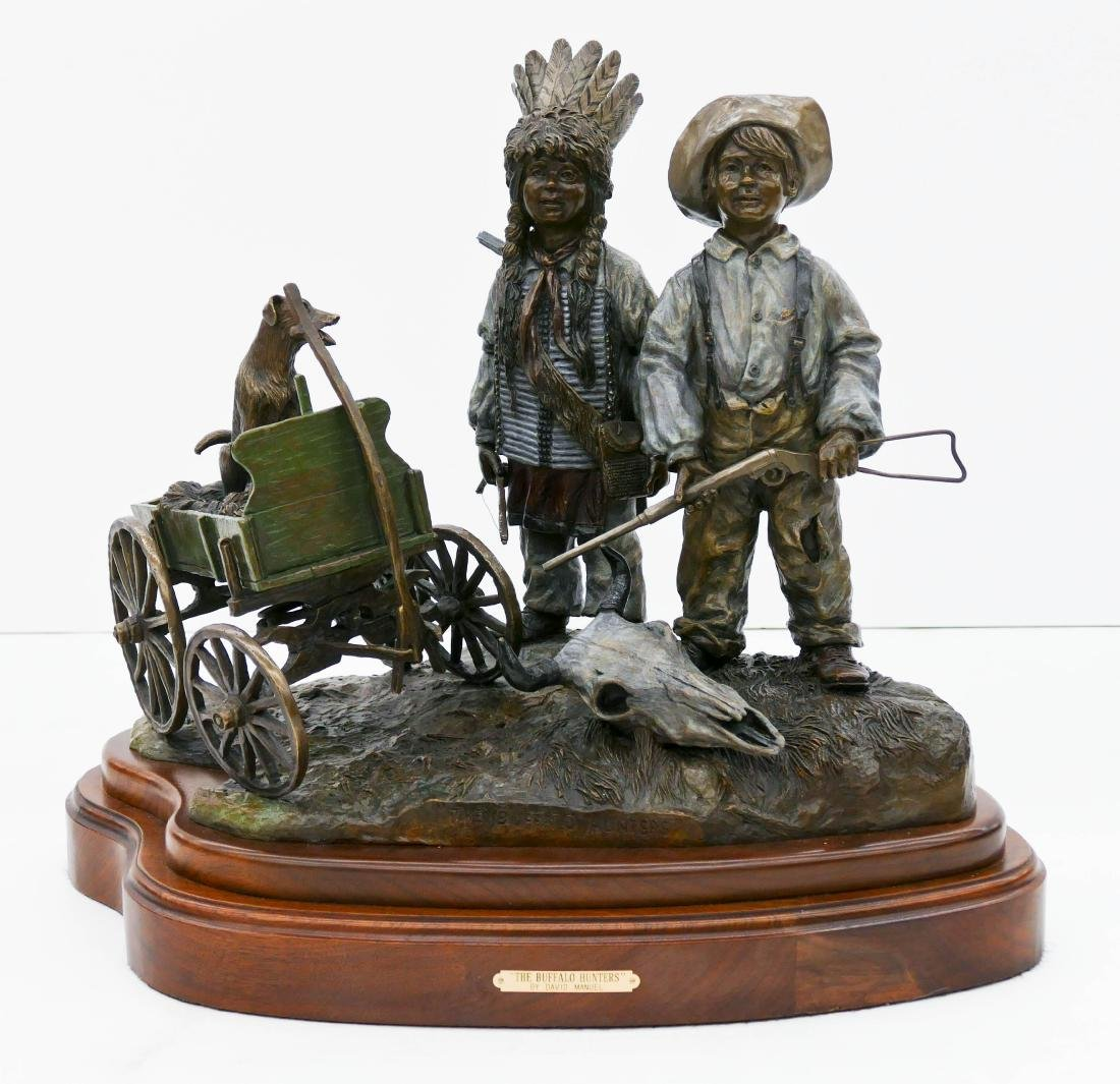 David Manuel (b.1940 Oregon) ''The Buffalo Hunters''