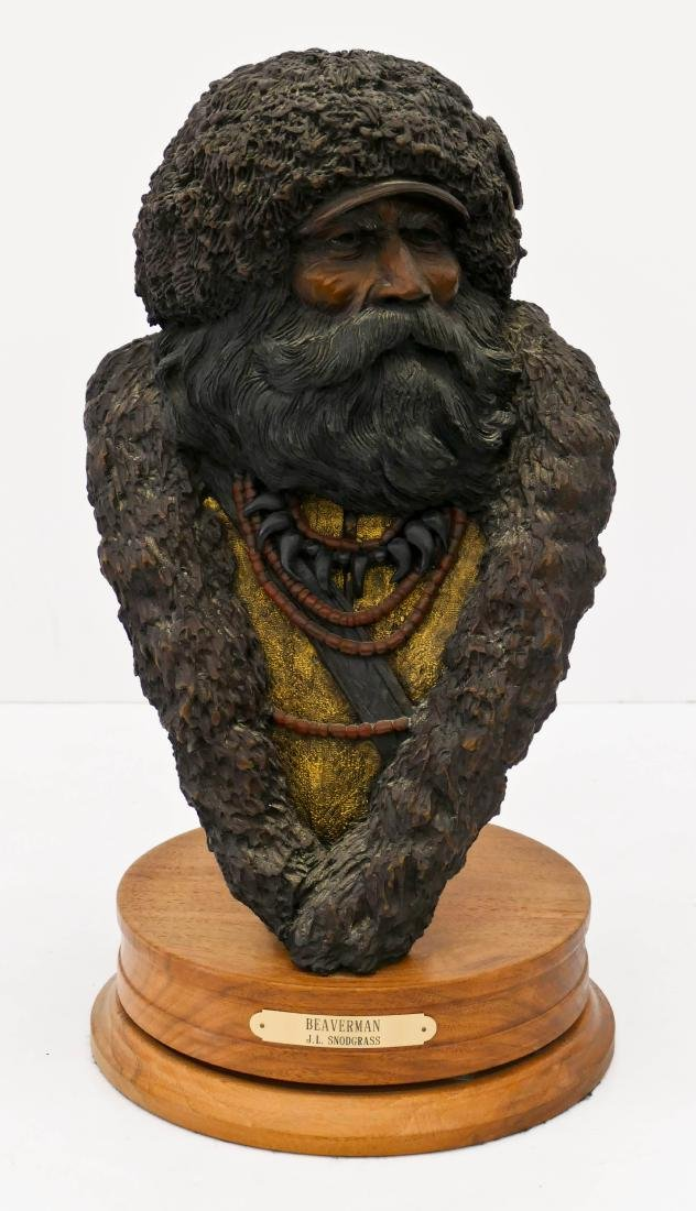 Jerry Snodgrass (b.1929 Idaho) ''Beaverman'' 1990