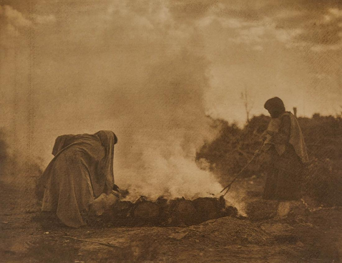 Edward Curtis (1868-1952 Washington) ''Pottery Burners