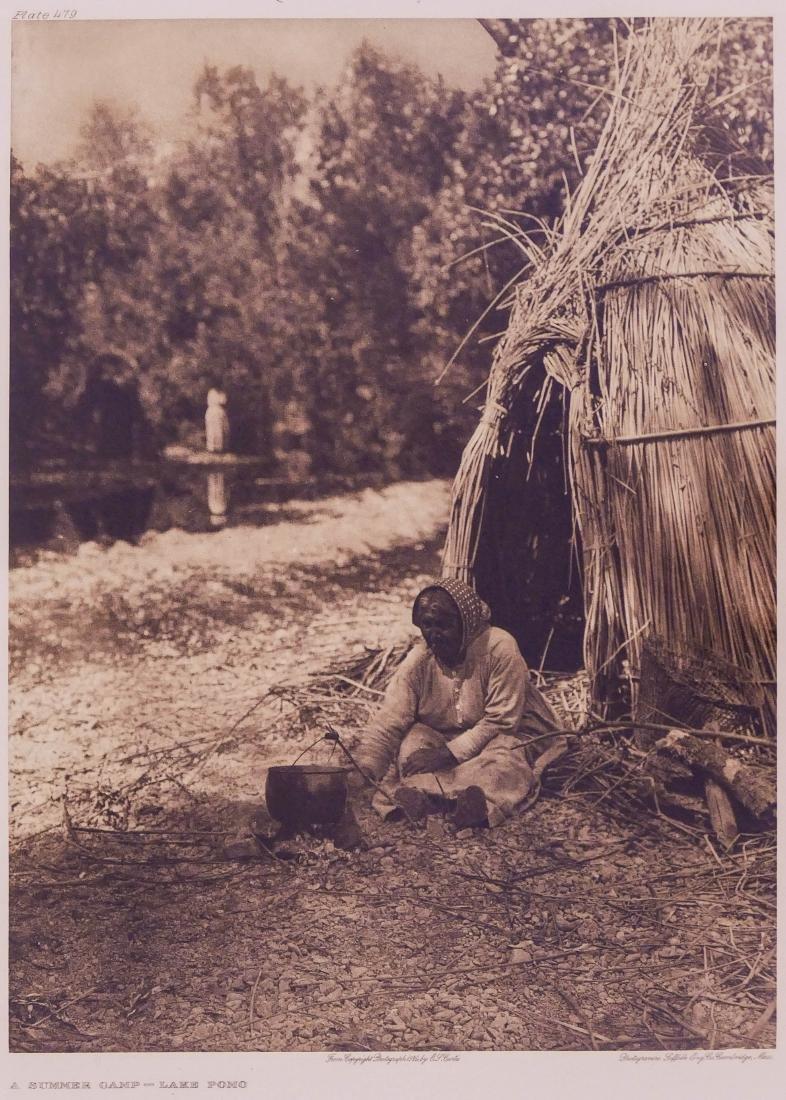 Edward Curtis ''A Summer Camp - Lake Pomo'' 1924 Plate