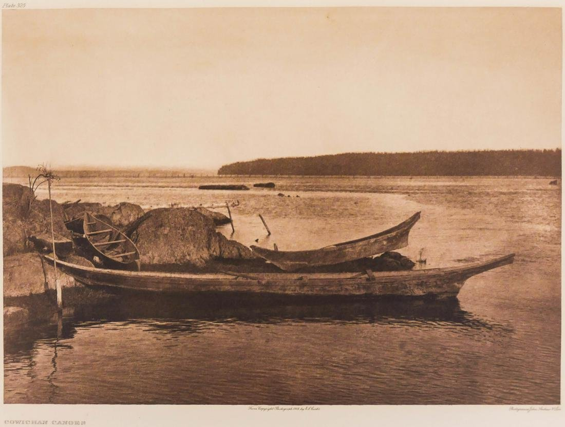 Edward Curtis ''Cowichan Canoes'' 1912 Plate 325
