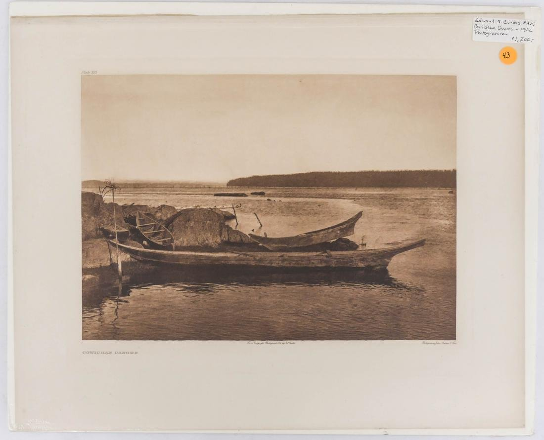 Edward Curtis ''Cowichan Canoes'' 1912 Plate 325 - 2