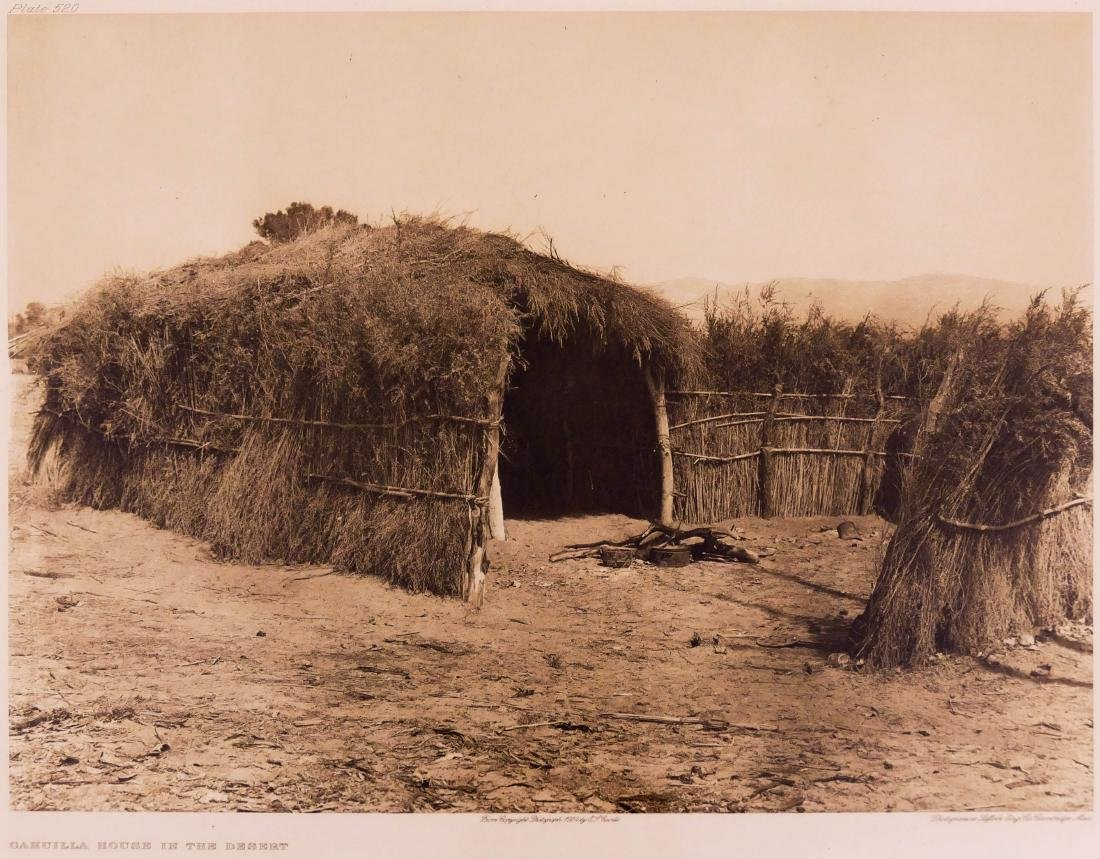 Edward Curtis ''Cahuilla House in the Desert'' 1924