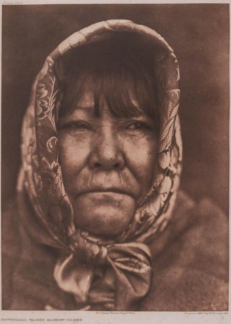 Edward Curtis ''Datsolali, Washo Basket Maker'' 1924