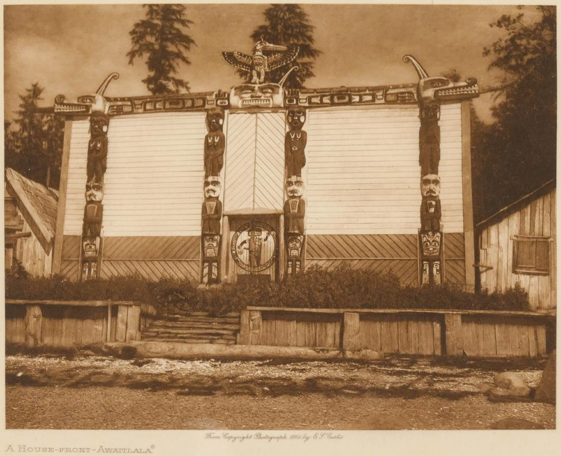 2pc Edward Curtis Small Photogravures on Japan Tissue