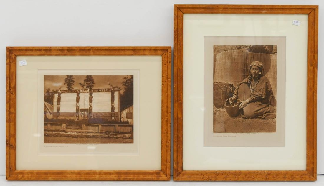2pc Edward Curtis Small Photogravures on Japan Tissue - 3