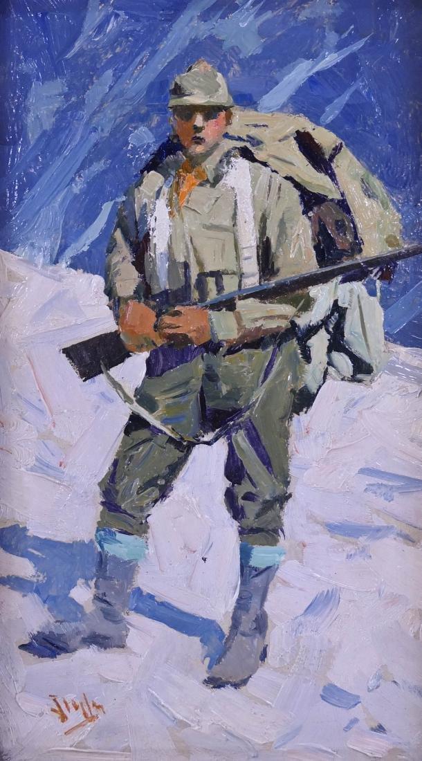 Eustace Ziegler (1881-1969 Alaska) ''Hunter in Snow''
