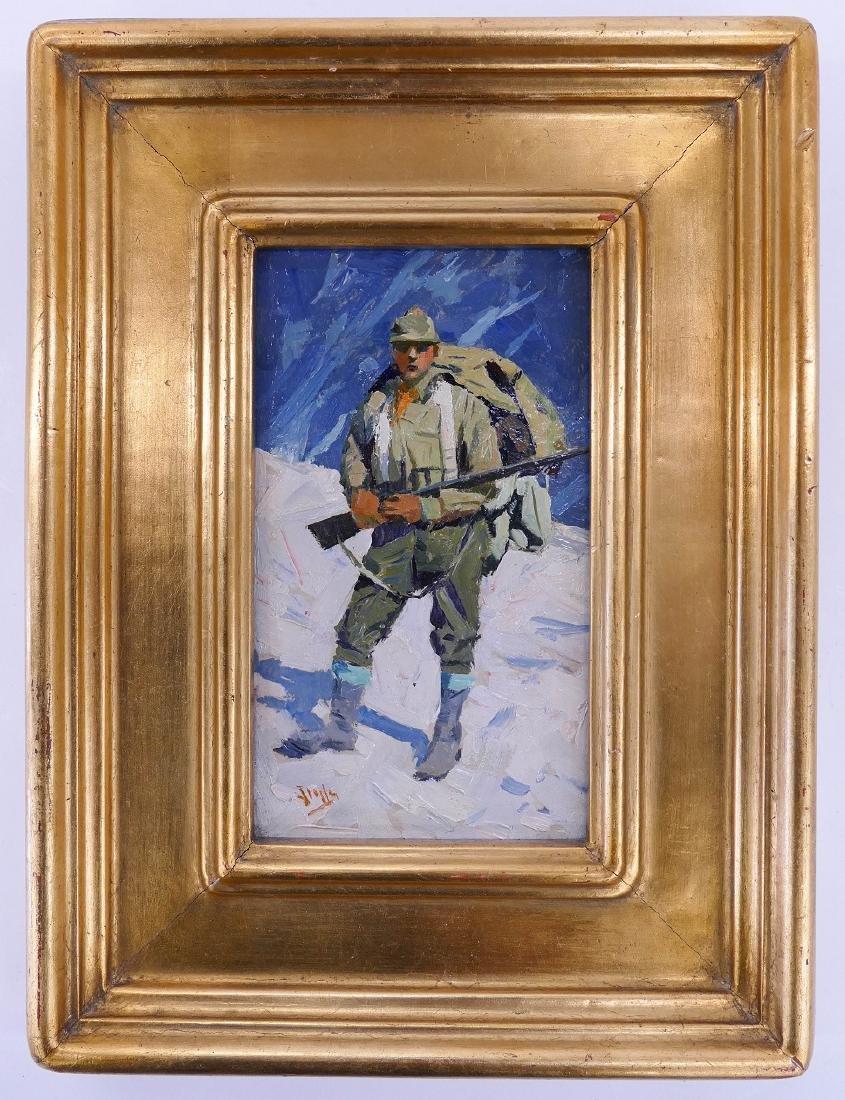Eustace Ziegler (1881-1969 Alaska) ''Hunter in Snow'' - 2