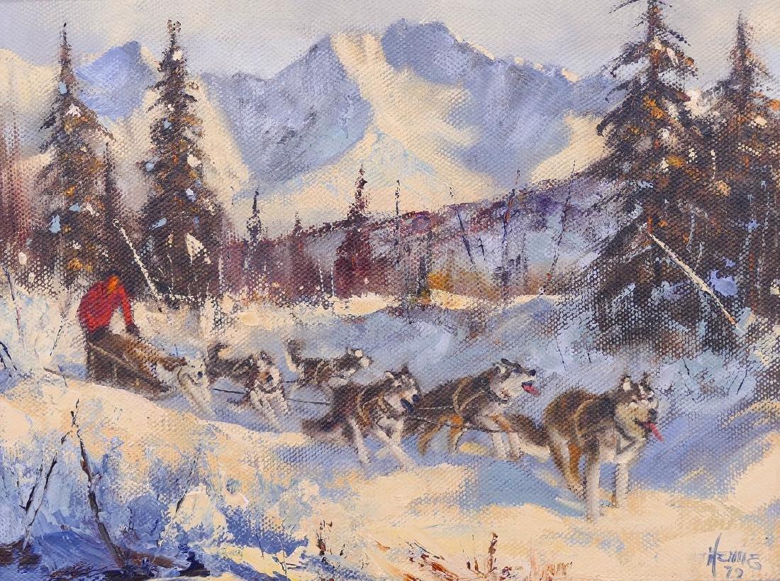 Henne Goodale (1915-1991 Alaska) Untitled Dog Sled 1979