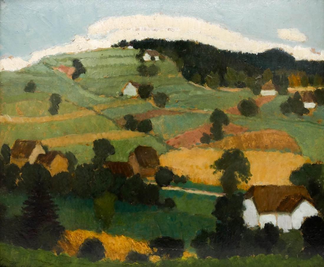 Jan Hulinsky (b.1889 Czech) Untitled Rolling Hill