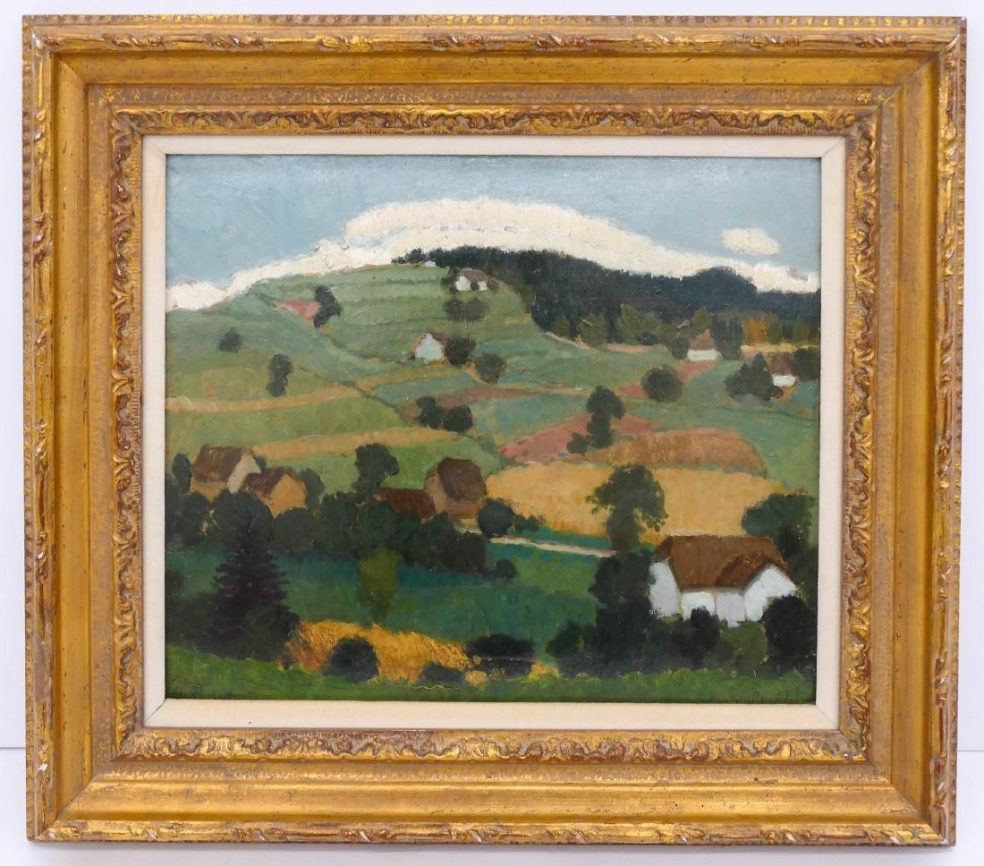 Jan Hulinsky (b.1889 Czech) Untitled Rolling Hill - 2