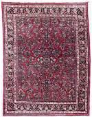 Semi Antique Persian Sarouk Floral Room Size Oriental