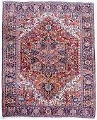 Antique Persian Heriz Room Size Oriental Rug 8'9''x12'.