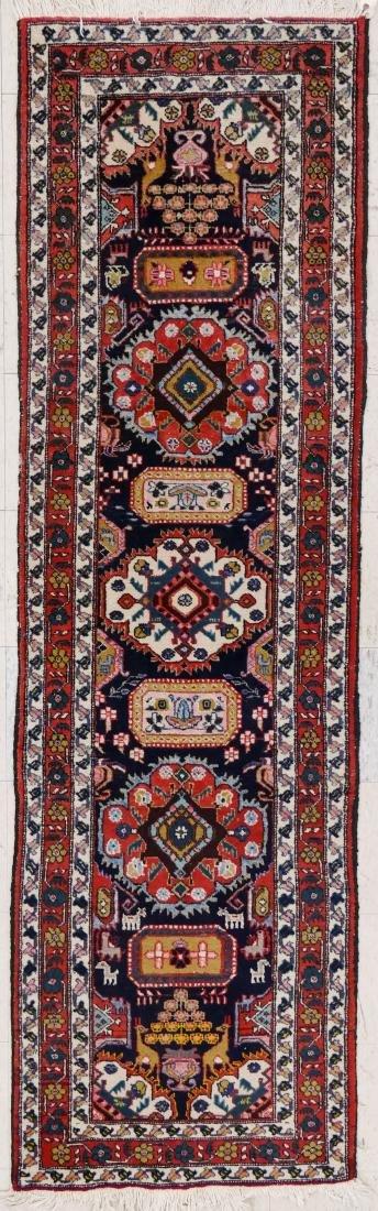 Semi Antique Persian Runner Oriental Rug 2'6''x8'7''. A