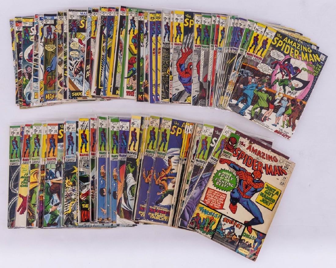 131pc The Amazing Spider Man Silver & Bronze Age Comic - 2