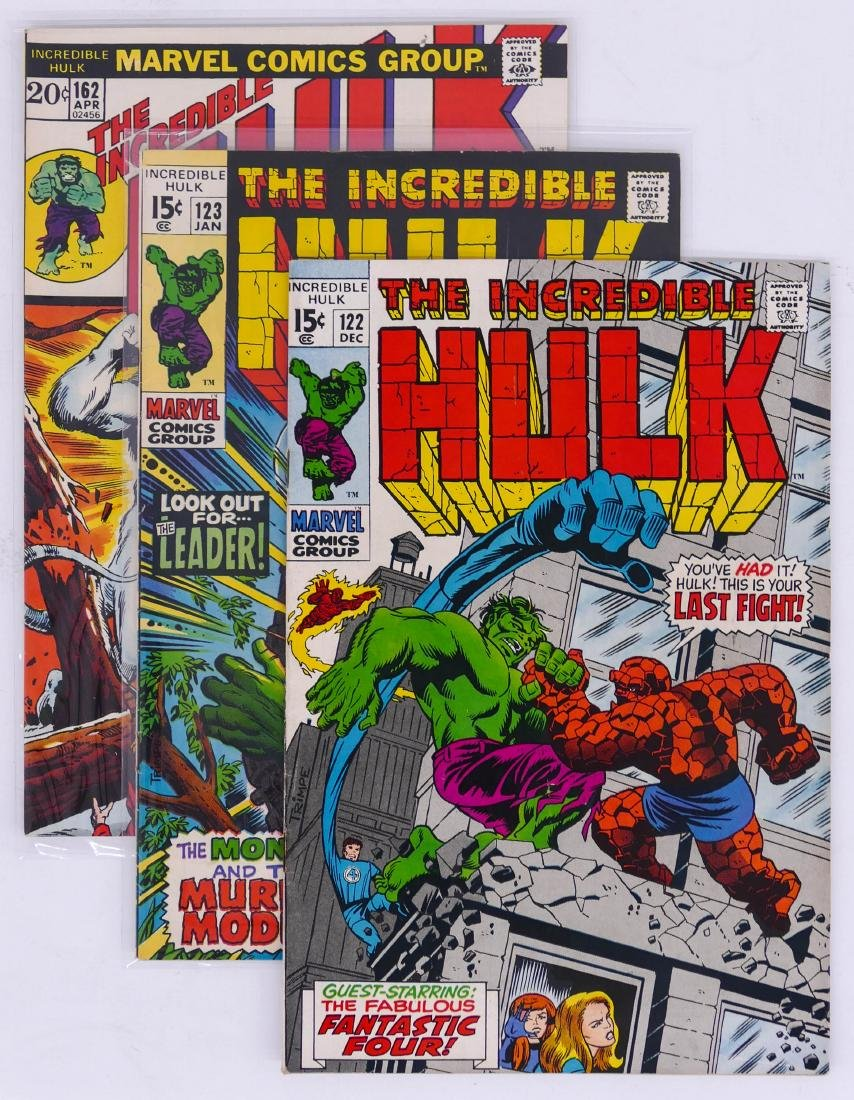 57pc The Incredible Hulk Silver & Bronze Age Comic Book