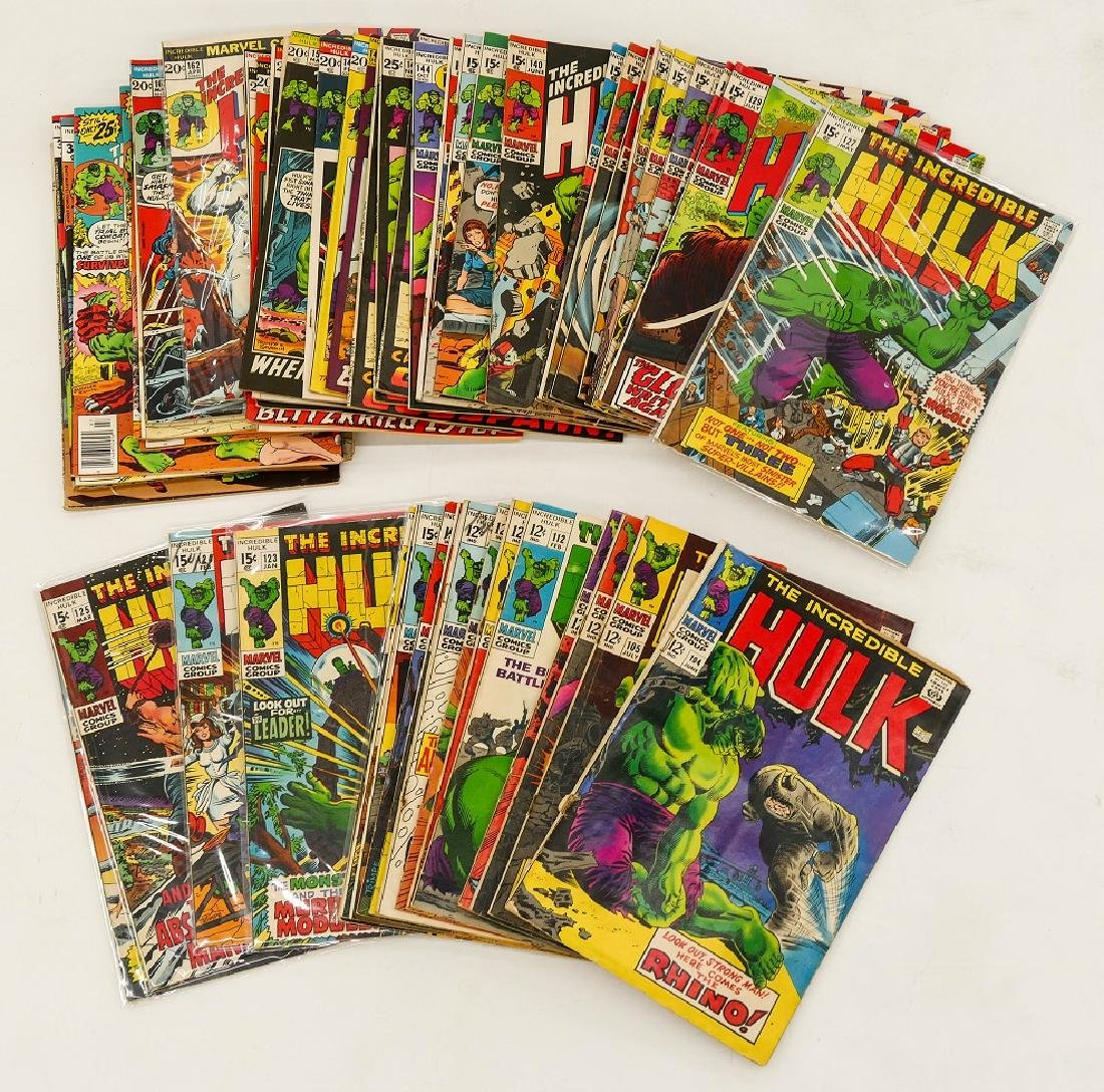 57pc The Incredible Hulk Silver & Bronze Age Comic Book - 3
