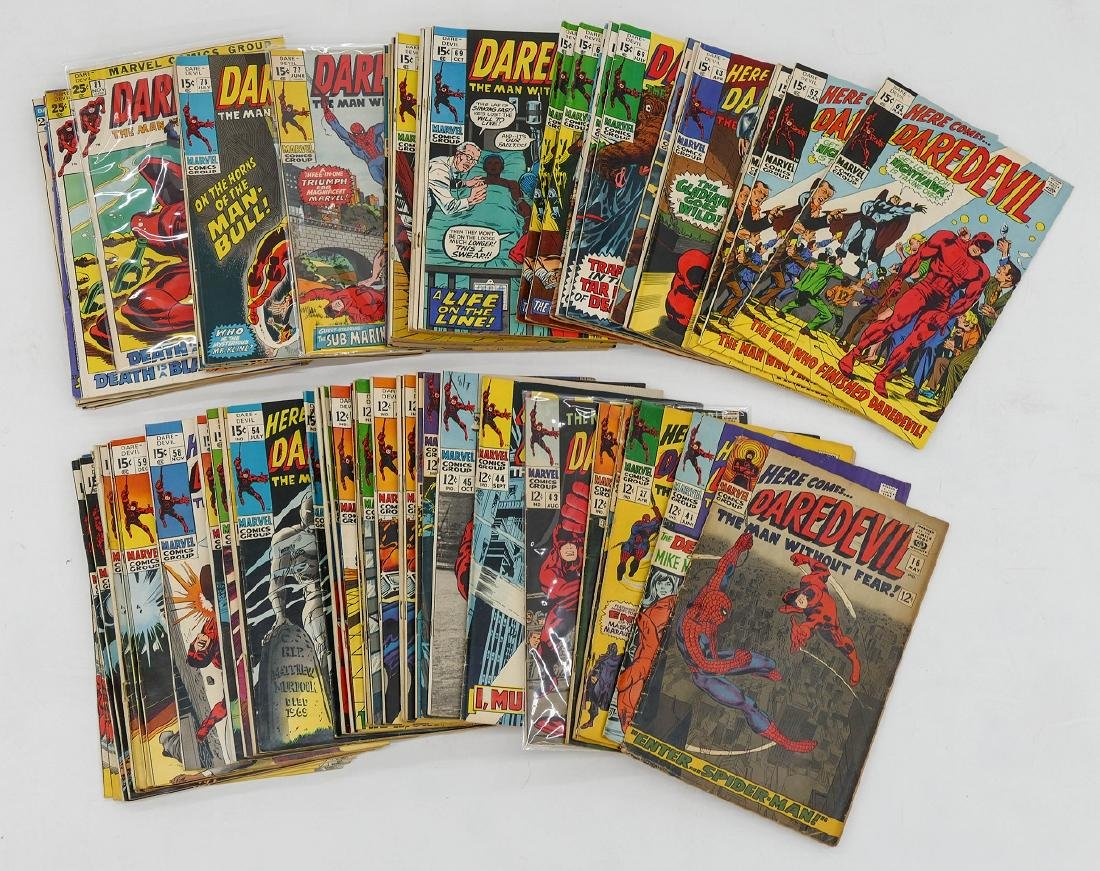 125pc Daredevil Silver & Bronze Age Comic Book - 2