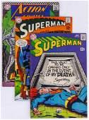 177pc Superman  Action Comics Silver  Bronze Age