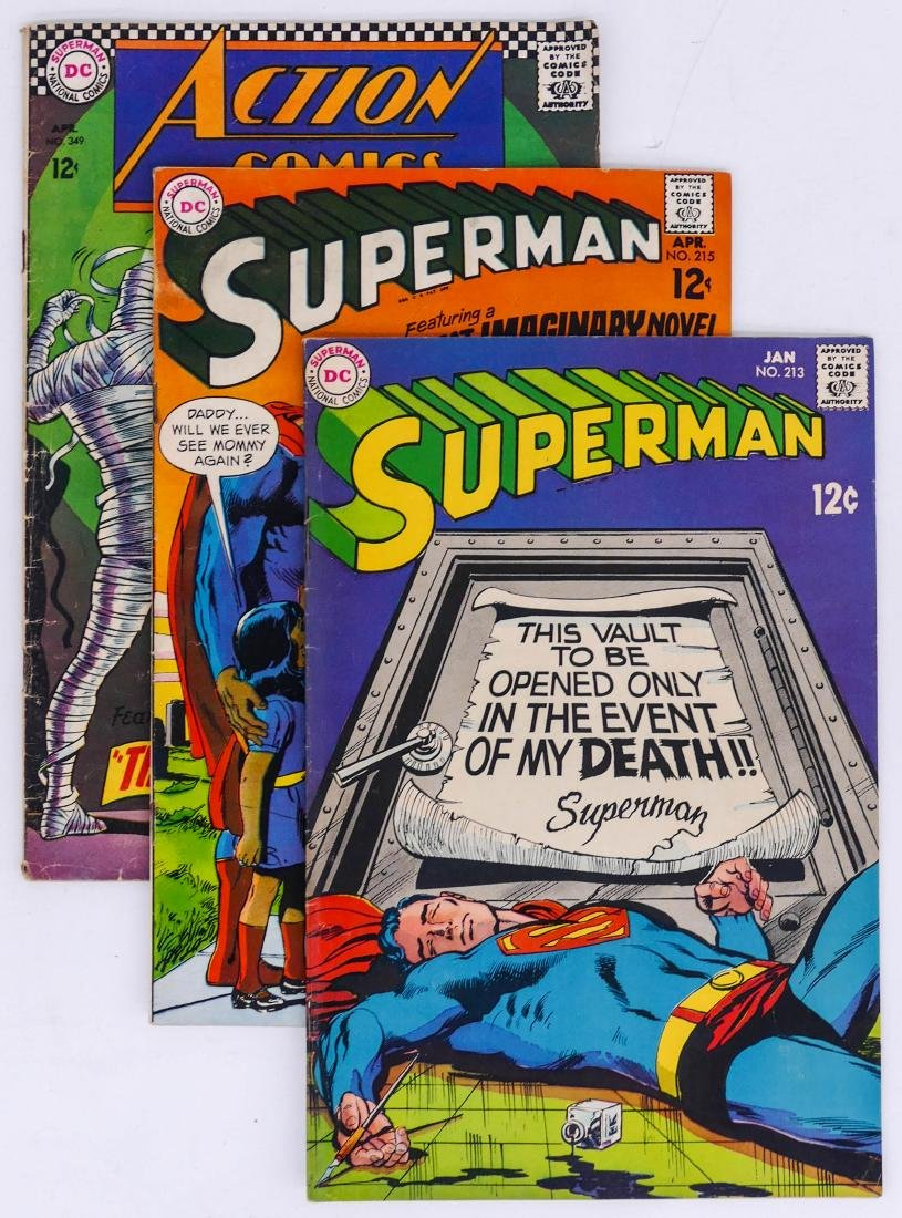 177pc Superman & Action Comics Silver & Bronze Age