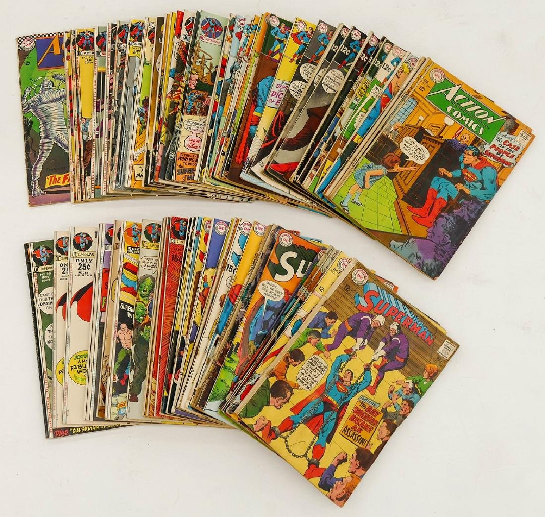 177pc Superman & Action Comics Silver & Bronze Age - 2