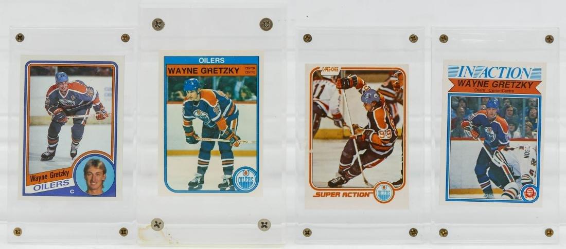 7pc Early Wayne Gretzky Hockey Trading Cards. A fresh