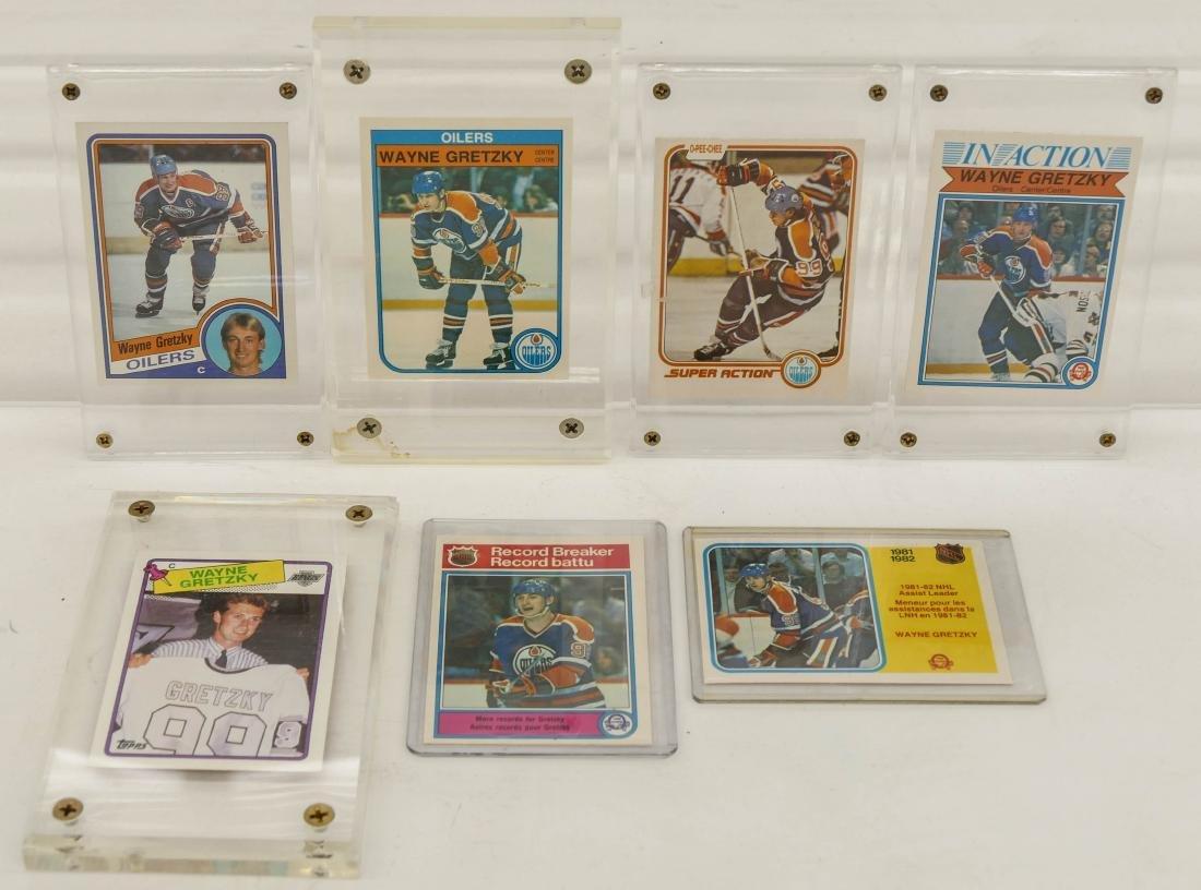 7pc Early Wayne Gretzky Hockey Trading Cards. A fresh - 3