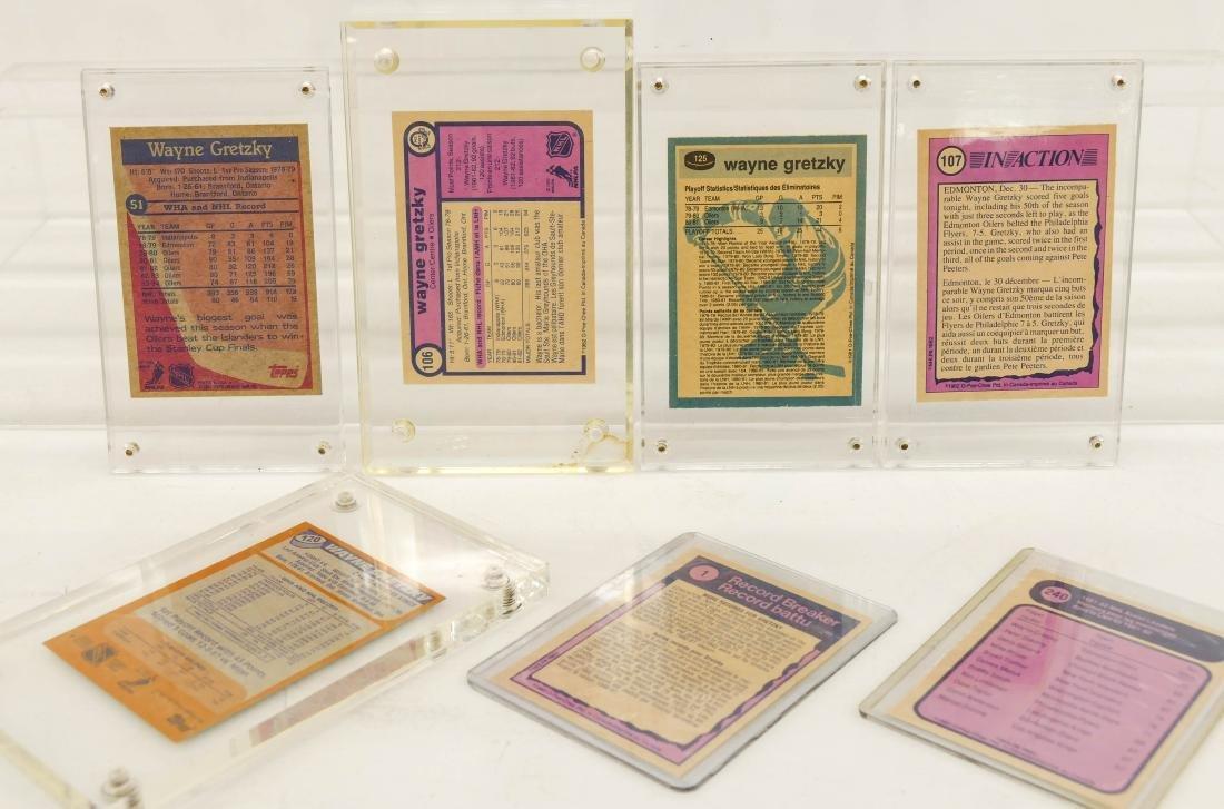 7pc Early Wayne Gretzky Hockey Trading Cards. A fresh - 4