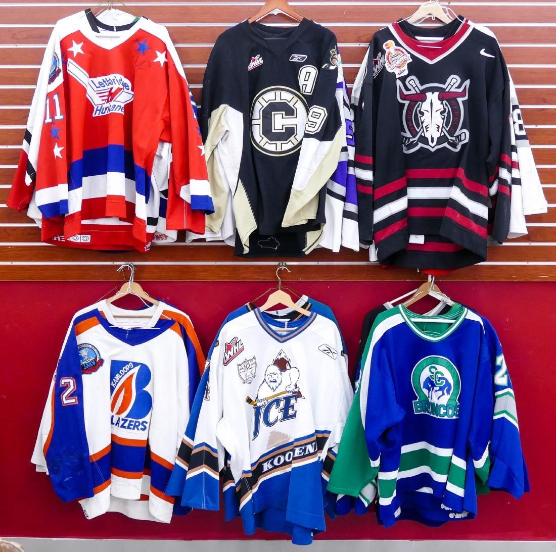 22pc WHL Western Hockey League Game Used Jerseys.