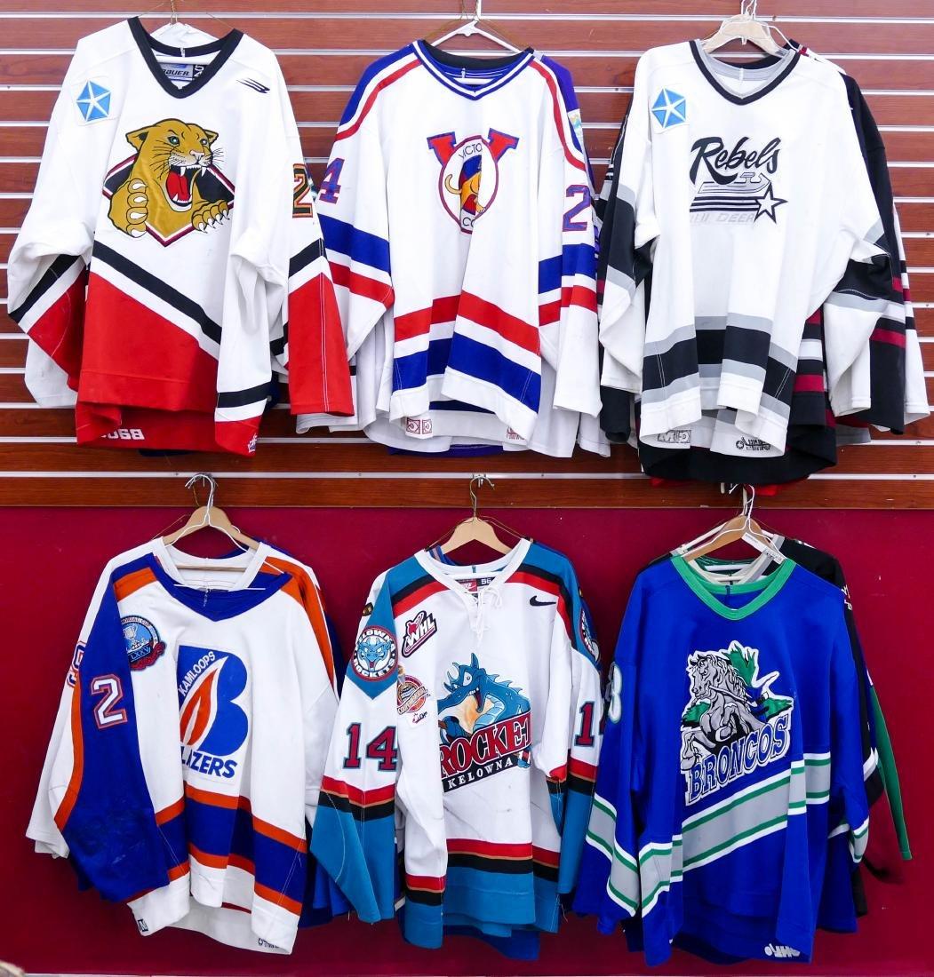 22pc WHL Western Hockey League Game Used Jerseys. - 2