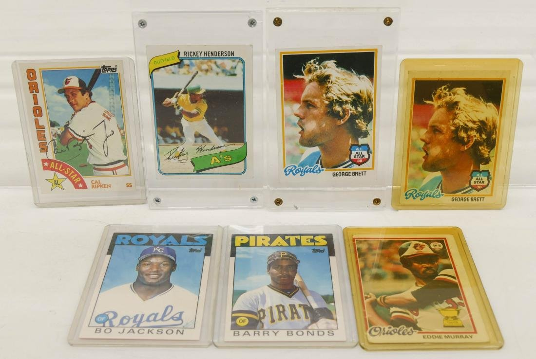 7pc Baseball HOF Rookie Trading Cards. A fresh group of