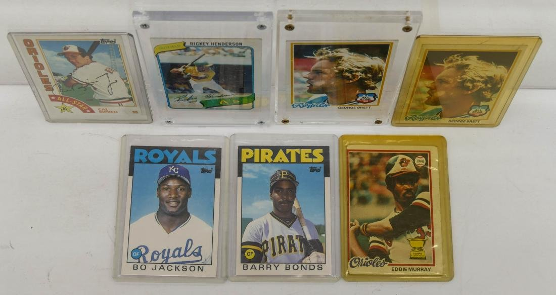 7pc Baseball HOF Rookie Trading Cards. A fresh group of - 4