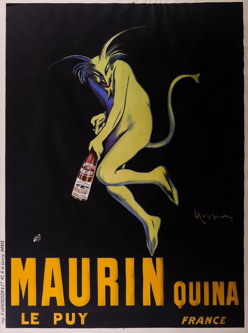 1906 Maurin Quina French Wine Advertising Poster by