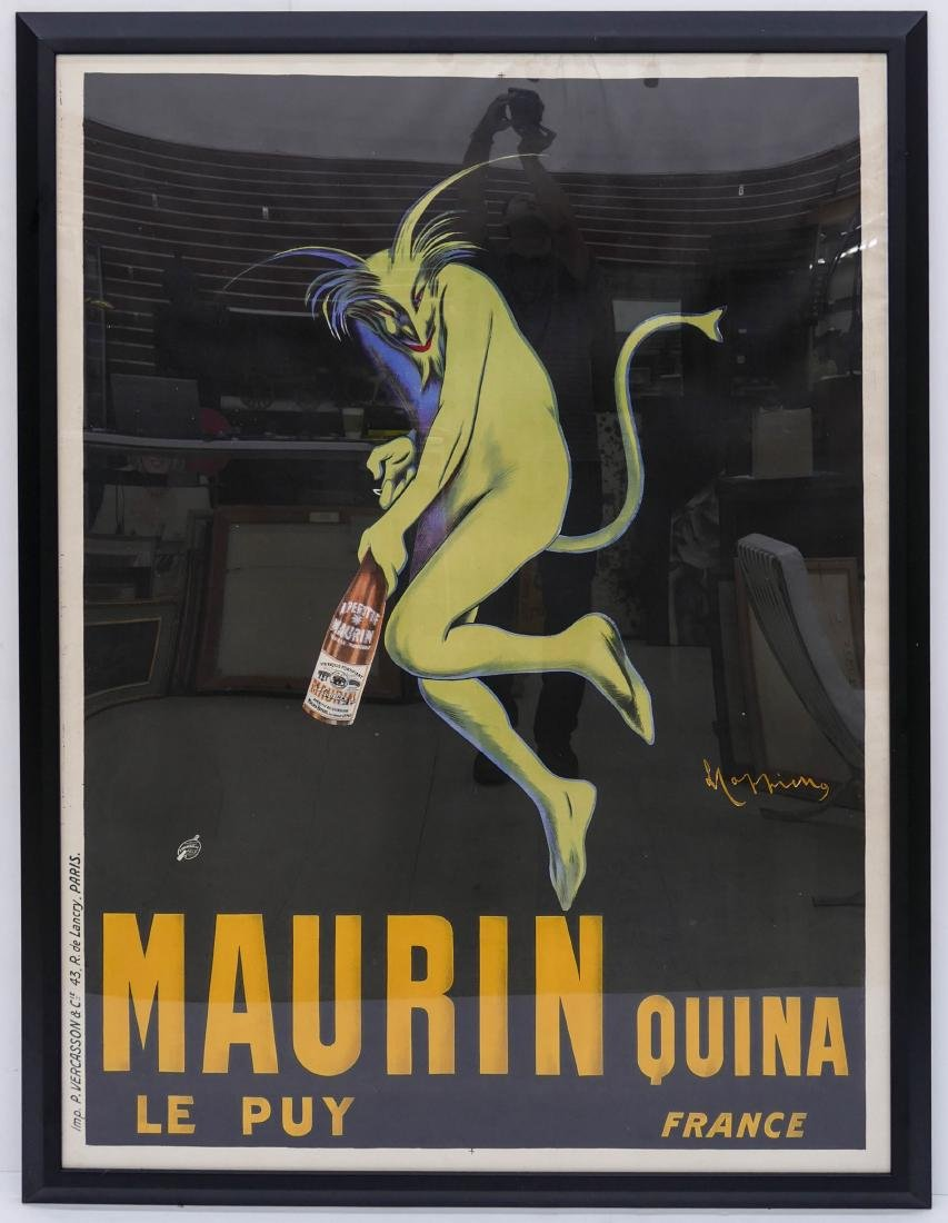 1906 Maurin Quina French Wine Advertising Poster by - 2