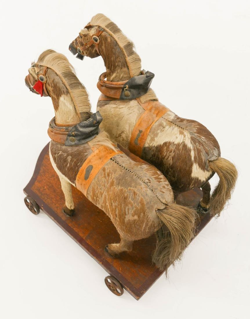Antique Horse Drawn Wagon Pull Toy 12''x32''x10''. - 6